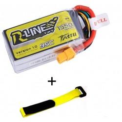 Batería Lipo Tattu R-Line 4S 1550mAh 95C 14.8V  Enchufe XT60